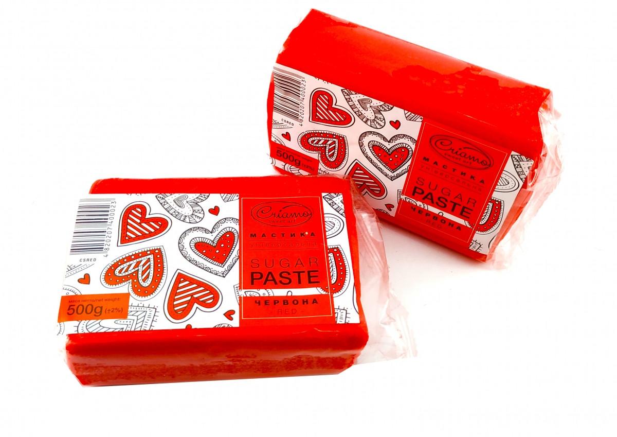 Мастика для тортов Criamo обтяжка 1 кг Красная