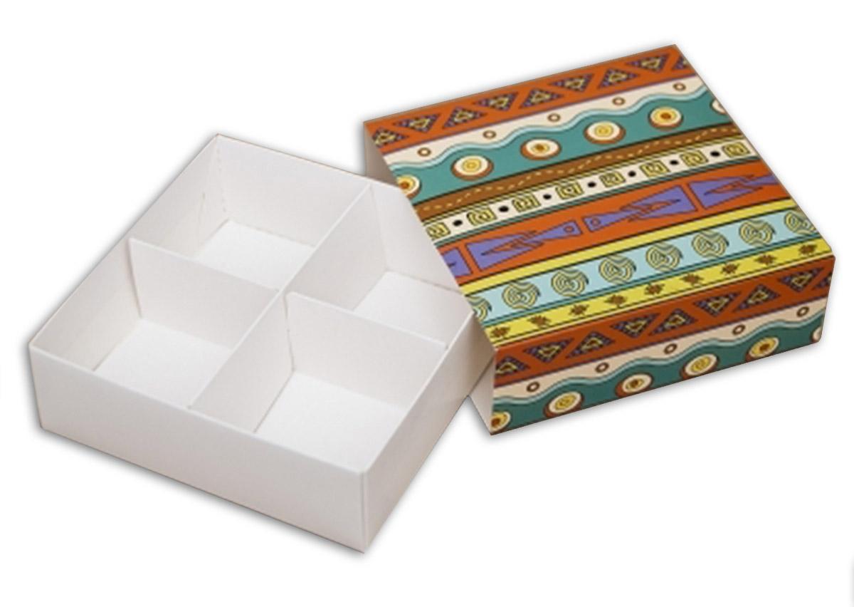 Коробки универсальные для десертов Этно (Упаковка 3 шт.)