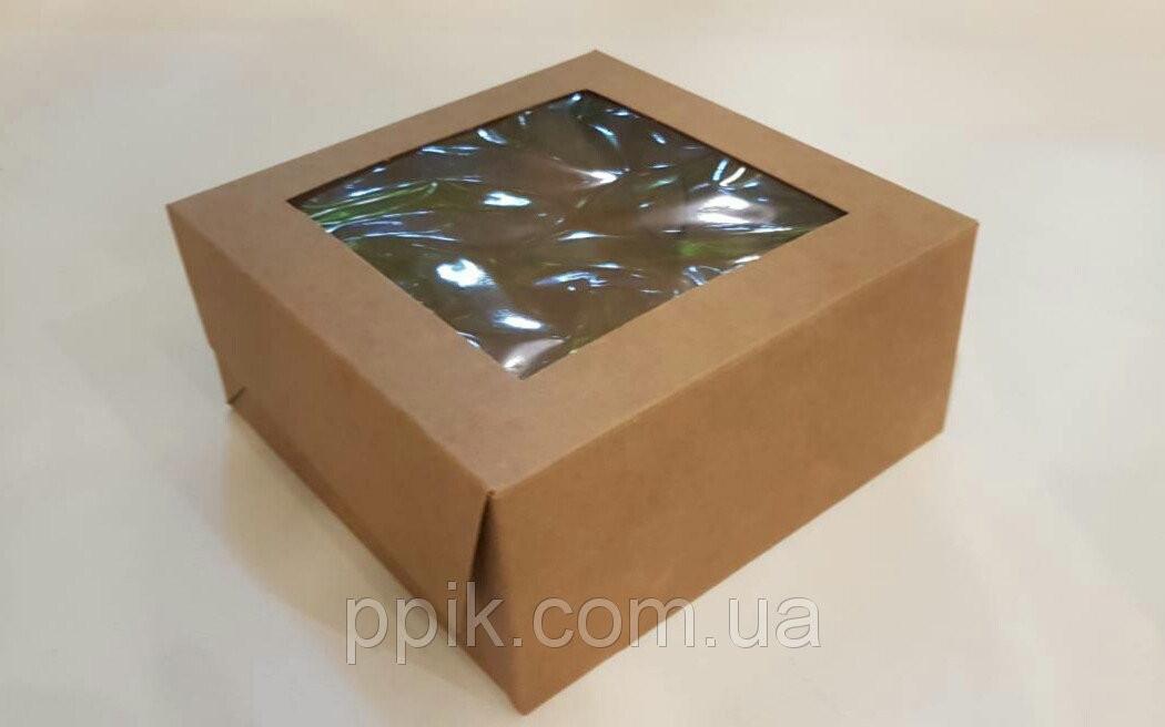 Коробка для десертов коричневая 13см*13см*6см (Упаковка 3 шт.)