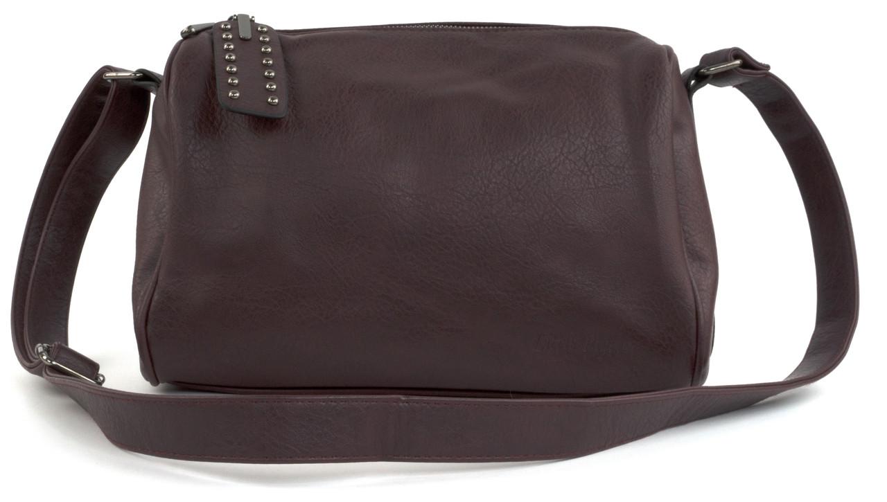 Повседневная бордовая женская сумка через плечо art.1106