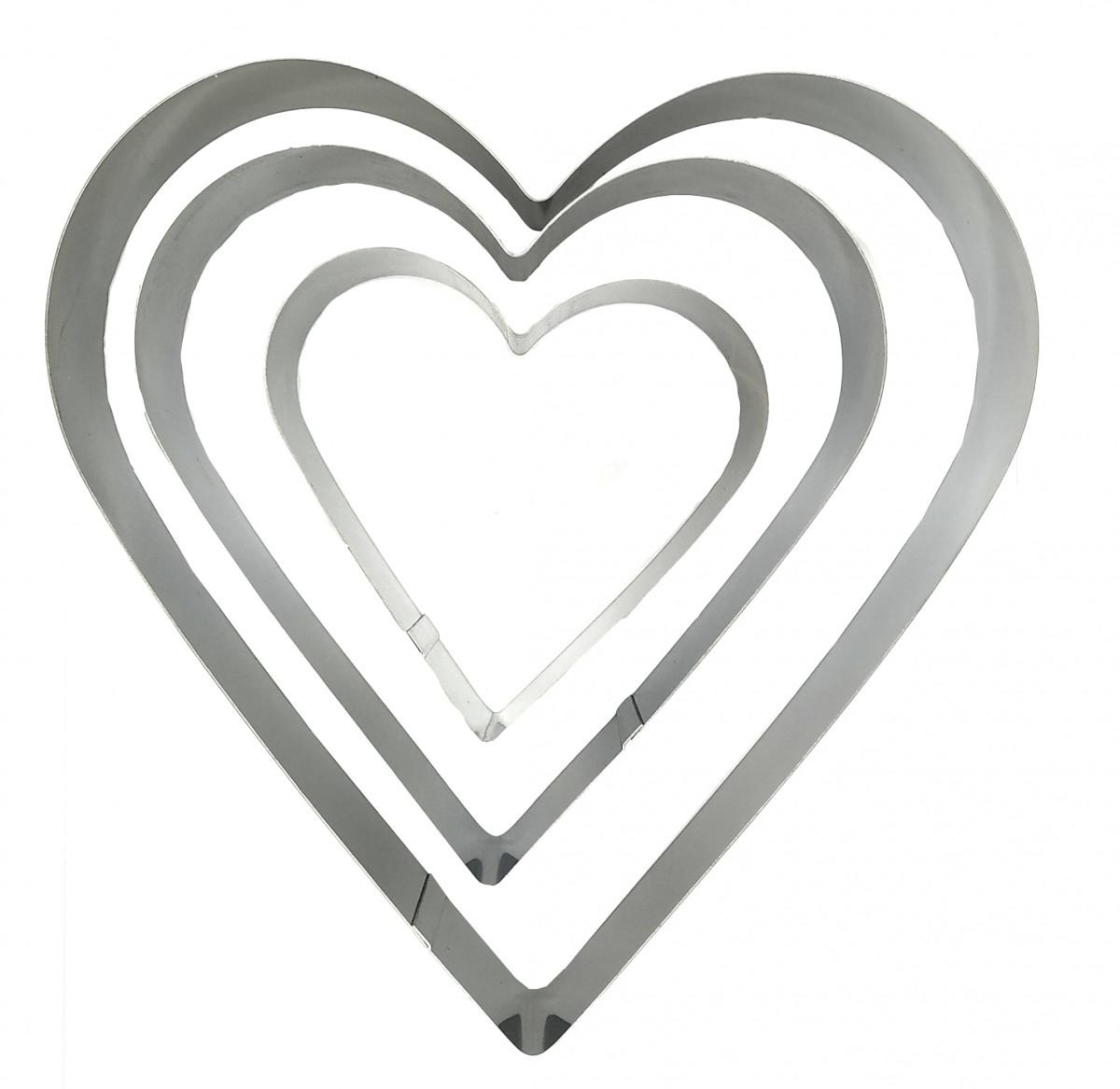 """Набор форм для выпечки """"Сердце"""" (3 шт.)"""