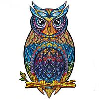 Деревянный пазл «Таинственная сова» (300+ деталей, размер А3)