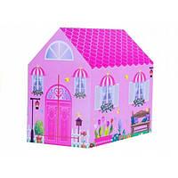 Детская игровая палатка принцессы домик для девочек на 2 входа UKC Princess Home розовый