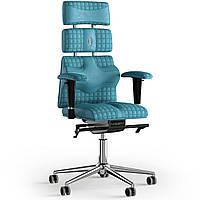 Кресло KULIK SYSTEM PYRAMID Антара с подголовником со строчкой Аквамарин 9-901-WS-MC-0305, КОД: 1669068