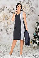 Нарядное женское платье батал с 48 по 62 рр трикотаж + накидка из шифона