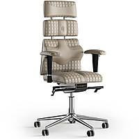 Кресло KULIK SYSTEM PYRAMID Кожа с подголовником со строчкой Бежевый 9-901-WS-MC-0104, КОД: 1686000
