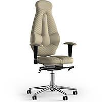 Кресло KULIK SYSTEM GALAXY Ткань с подголовником со строчкой Кремовый 11-901-WS-MC-0501, КОД: 1689571