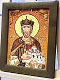 Икона из янтаря именная Св. князь Ярослав Мудрый,  15x20  см, фото 2