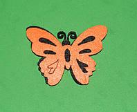 Высечка Бабочка оранжевая 390