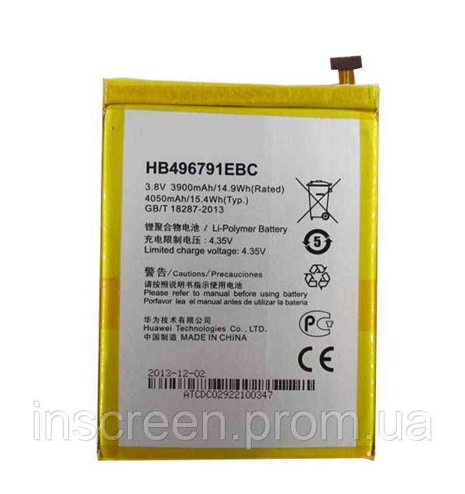 Акумулятор Huawei HB496791EBC для Ascend Mate, Ascend Mate 2 3900 mAh, фото 2