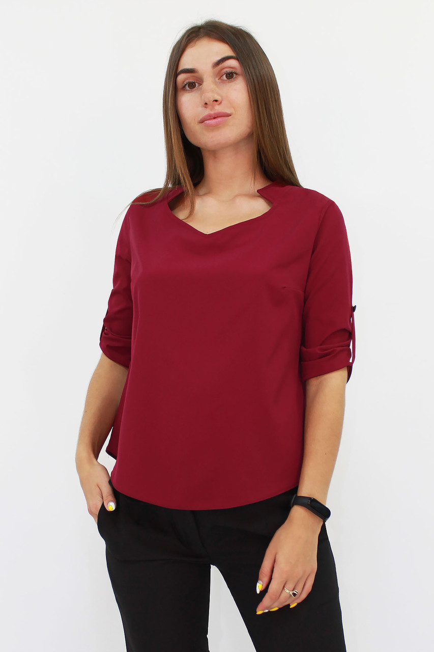 Стильная женская блузка Rina, марсала