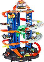 Трек Hot Wheels Хот Вилс Легендарный гараж с динозавром City T-Rex Ultimate Garage Playset GJL14 оригинал