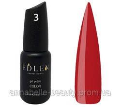 Edlen Гель-лак 9мл №3 Класичний червоний (классический красный)