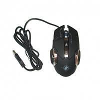 Игровая компьютерная мышь проводная Keywin X6 Black