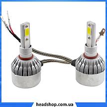 Комплект автомобільних LED ламп C6 H3 - Світлодіодні лампи, Автолампи, Ближнє, дальнє світло, Автосвітло, фото 3