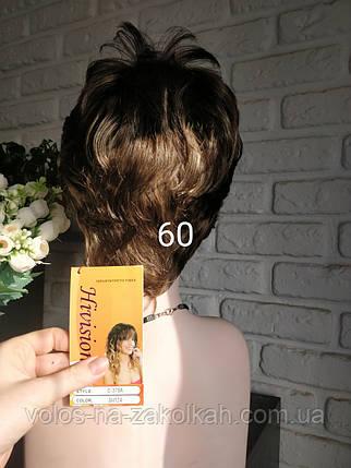Парик короткая стрижка русый темно русый укороченный парик, фото 2