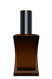КОРИЧНЕВИЙ Флакон для парфумерії ІМІДЖ 50 мл. з металевим спреєм ЧОРНИЙ