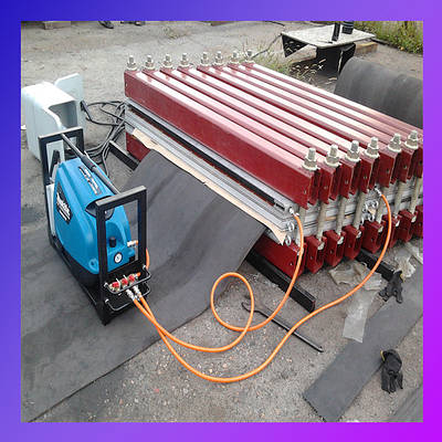 Стыковка конвейерных (транспортерных) лент методом горячей вулканизации