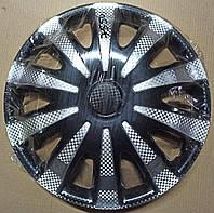 Колпаки ГАЗель передние карбон Дакар Super Black R16 STAR комплект 2шт