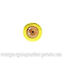 """Круг полировальный муслиновый желтый d-50мм 5""""x50 слоёв"""