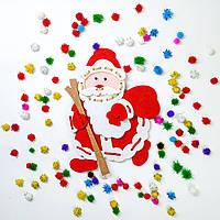 """Детская развивающая игрушка шнуровка """"Дед Мороз"""", фото 1"""