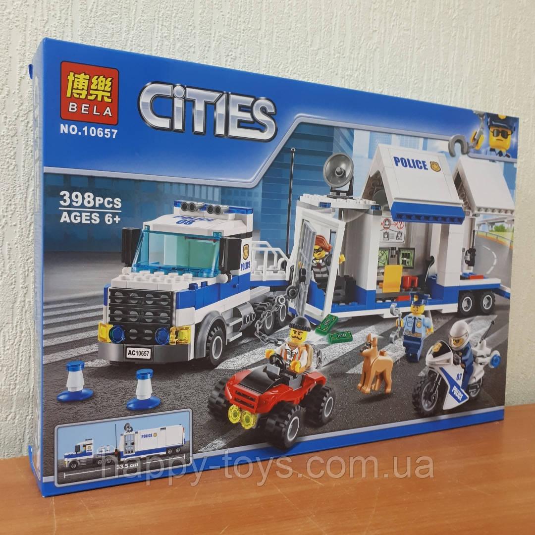 Конструктор Bela Cities 10657 Полиция Мобильный командный центр 398 деталей