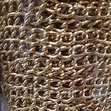 Цепочка декоративная золотая S028, ширина звена 12/5мм, цвет золото,серебро (1уп 13м)