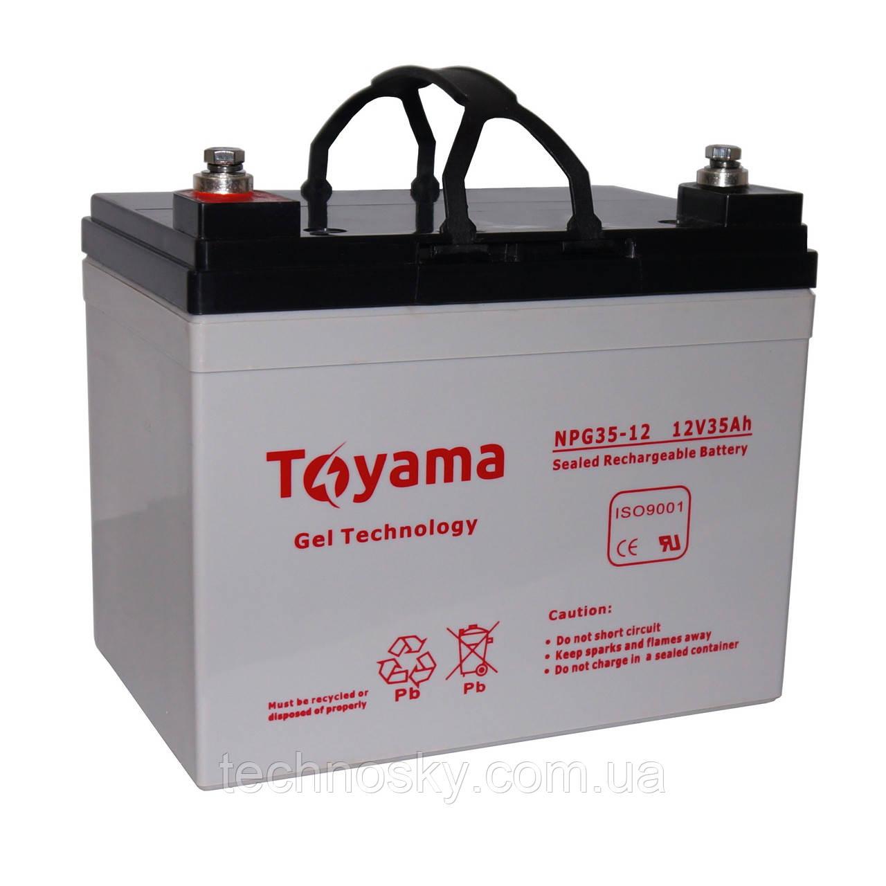 Гелевая батарея Toyama NPG 35-12 (12В , 35Ач)
