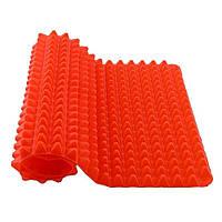 Антипригарный силиконовый коврик для готовки RIAS Pyramid Pan Red (3_9496)