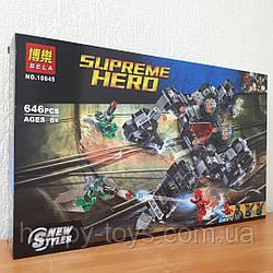 Конструктор Бэтмен Bela 10845 Флеш Лига Справедливости - Сражение в туннеле Супер Герои 646 деталей