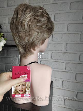 Парик короткая стрижка короткий парик пепельный, фото 2
