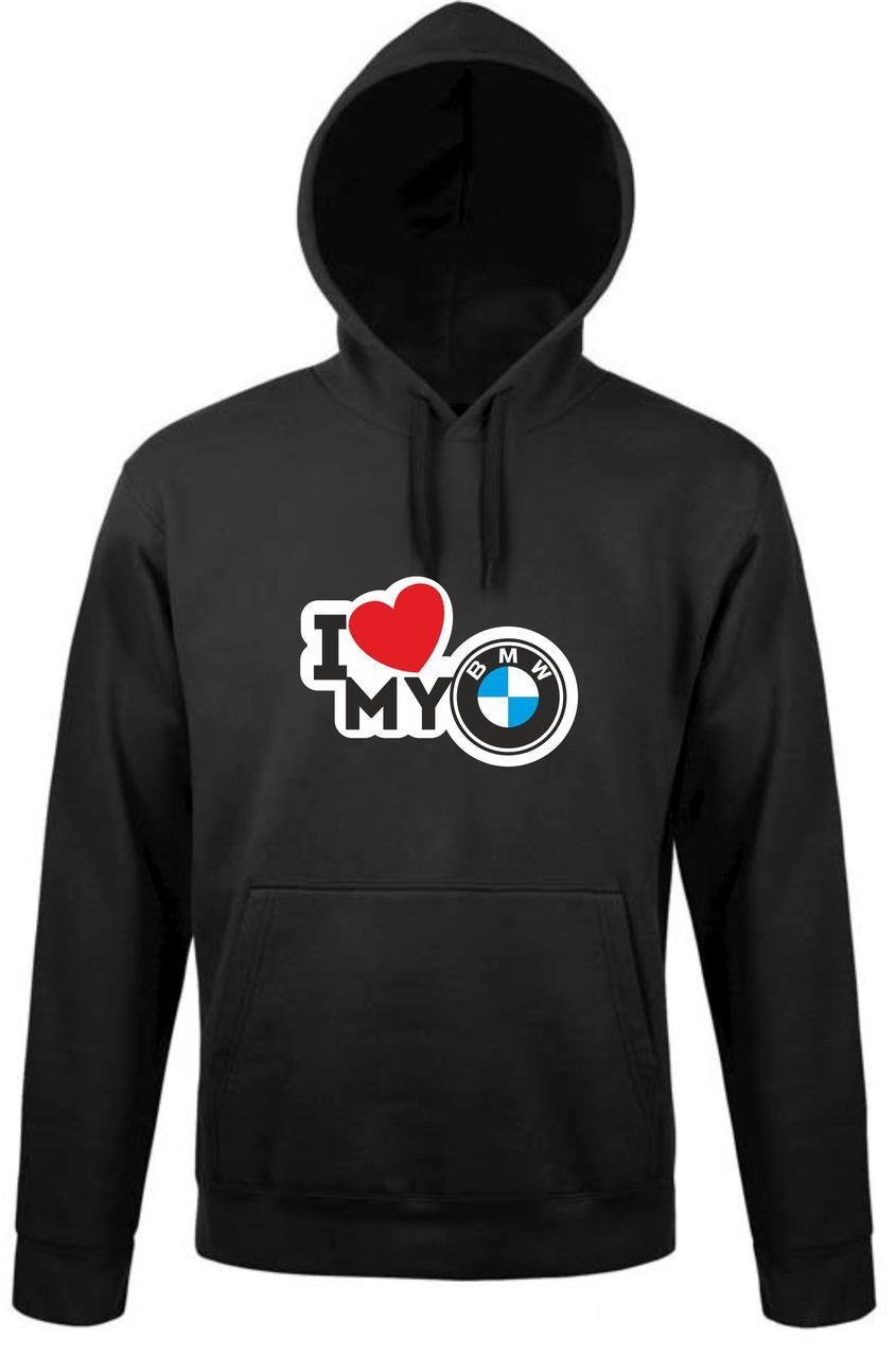 Реглан с капюшоном I love my BMW