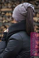 Шапка в верху с отверстием для волос