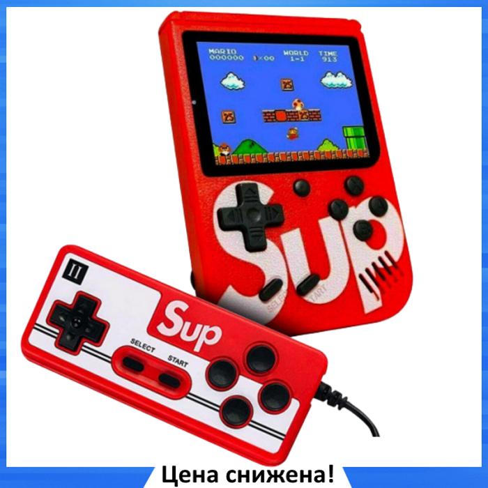 Игровая приставка SUP Game Box 400в1 - Приставка Dendy для двух игроков, с джойстиком, с подключением к ТВ