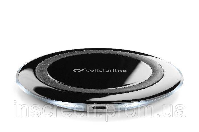 Бездротове зарядний пристрій Cellularline Ultra-slim (WIRELESSPAD) чорний