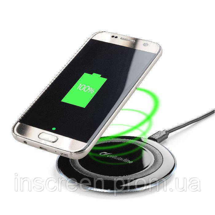 Бездротове зарядний пристрій Cellularline Ultra-slim (WIRELESSPAD) чорний, фото 2