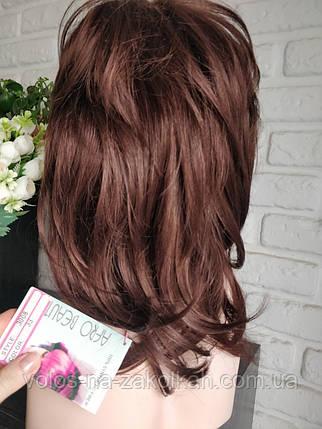 Парик короткая стрижка  по плечи коричневый русый 42#, фото 2