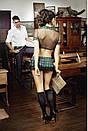 Еротичний костюм школярка сексуальний комплект білизни, фото 3