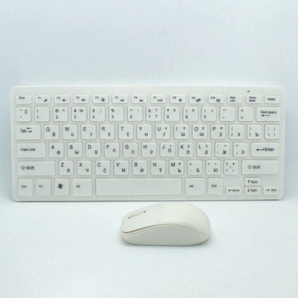 Комплект беспроводная клавиатура и мышь K03 для компьютера с защитной пленкой