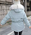 Куртка парка зимняя женская (мятная), фото 8