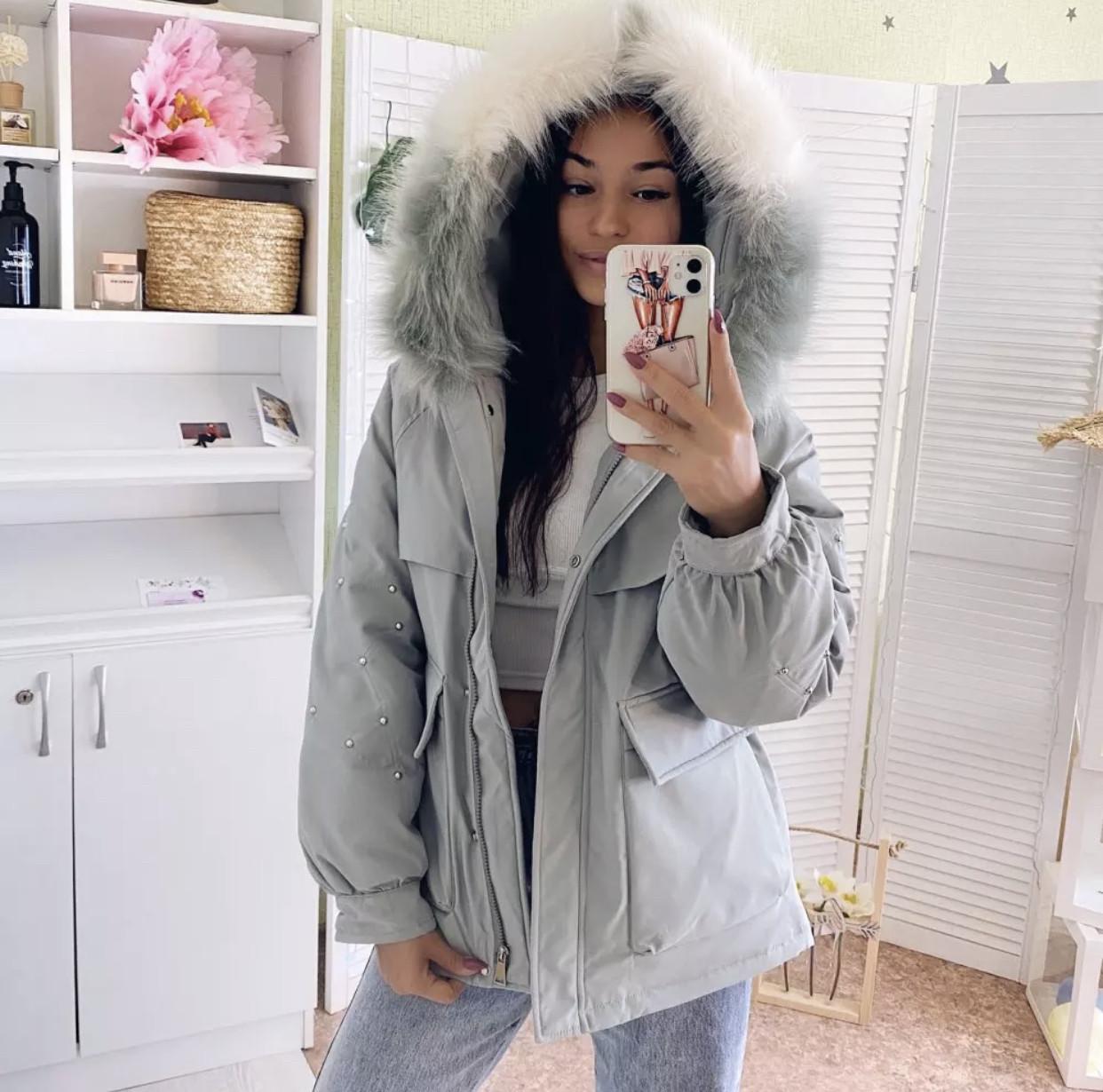 Куртка парка зимняя женская (мятная)