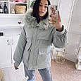 Куртка парка зимняя женская (мятная), фото 5
