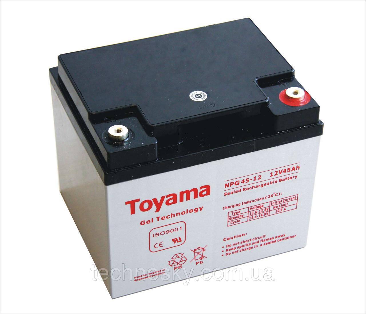 Гелевая батарея Toyama NPG 45-12 (12В , 45Ач)