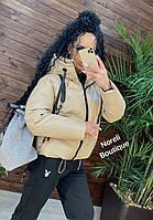Шикарная зимняя кожаная куртка в стиле Zara, фото 1