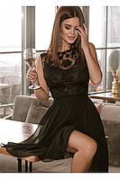 Короткое черное коктейльное платье 42