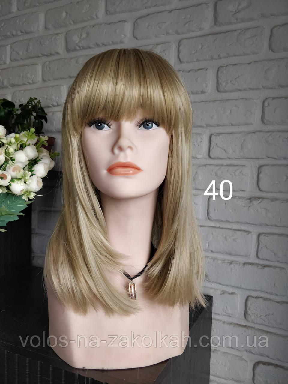 Парик пепельный блонд средняя длина