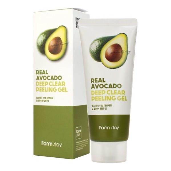 Пилинг-гель с экстрактом авокадо FarmStay Real Avocado Deep Clear Peeling Gel, 100 ml