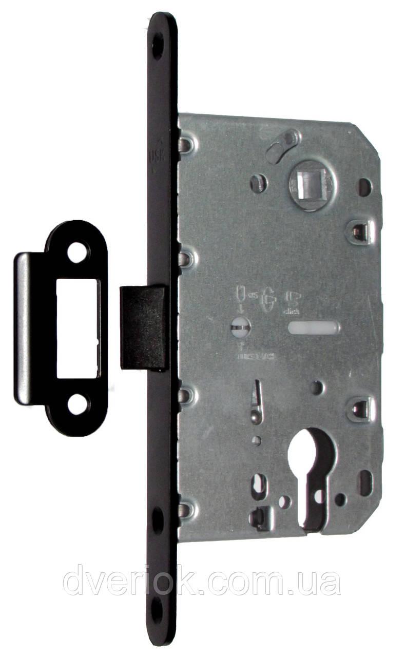 Замок для межкомнатной двери USK 410C PVC 85*50 Черный
