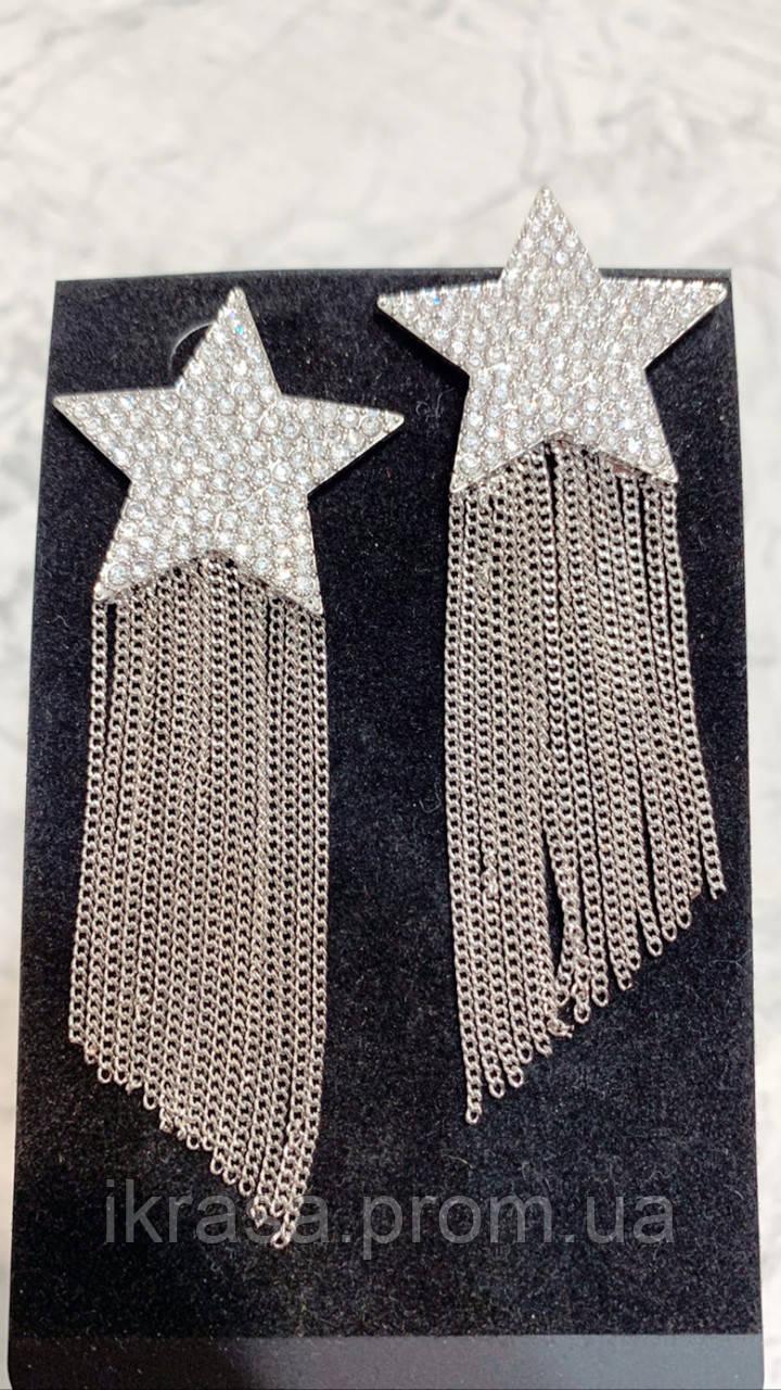 Чудові ніжні срібні сережки