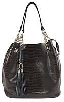 Стильная  женская мягкая сумка из натуральной кожи с лазерной обработкой art. 7638, фото 1